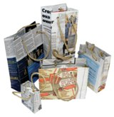 "Recycled Newspaper Gift Bags ""Large""  - Size: 405*305*160mm - Mi"