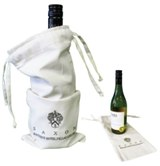Natural Cotton Wine Bag - Size: 380mm x 160mm - Min Order: 100 u
