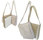 Natural Cotton & Hessian Conference Bag - Size: 350*300*100mm -