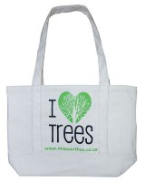 Natural Cotton Shoulder Bag - Size: 330mm x 370mm x 120mm - Min