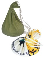 Natural Cotton & Banner Drawstring Gym Bag - Size: 270mm x 450mm