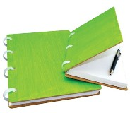 Recycled Paper & Wooden Cover A4 Journals (150 Sheet) - Plain -