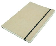 Recycled Paper & Recycled Leather Cover A4 Journals - Plain Inse