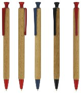 Sustainable Wood (FSC) Gel Pen (Coloured Trim) - Plain - Min Ord
