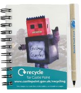 Recycled Drink Bottle & Paper A5 Notepad & Pen Holder - Full Col