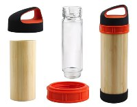 Bamboo & Glass Drinking Bottles; Capacity: 500ml; 1 Colour in 1