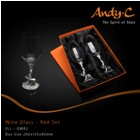 Andy C Elephant Range Wine glass - red set