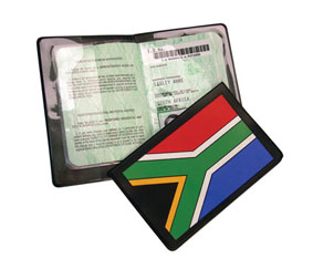 ESCAPE - SA FLAG PASSPORT COVER