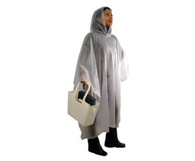 PVC CLEAR FROSTED RAIN PONCHO