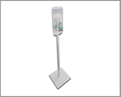 Metal Floor Stand Sanitiser/Sanitizer Dispenser - Manual Version
