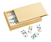 28 Piece Domino Set In Wooden Case