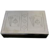 Games - Card Double Black/Metal