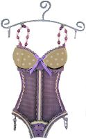 Sisters -Mesh Corset - Lilac