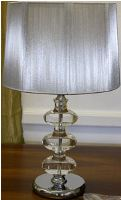 Lamp - Thurman (crystal + metal) - with shade B 38x56cmPlease no