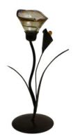 Springfield Candle Holder - Tulip Amber-Single 25cm