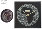 Pewter Africa Wall Clock