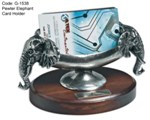 Pewter Elephant Card Holder