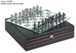 Pewter Chess Set (Animals)
