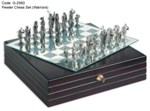 Pewter Chess Set (Warriors)