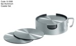 6pc Aluminium Coaster Set