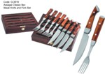 Assagai Classic 8pc Steak Knife and Fork Set