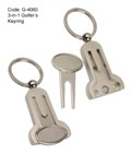 3-in-1 Golfer's Key Ring