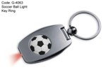 Soccer Ball Light Key Ring