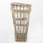 Grey Tapered Square Bamboo Vase Large 33X17Cm