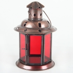 Lantern Round Plain 13Cm Red