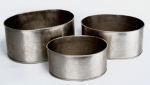 Nickel Plated 3Pc Dp Oval Planters