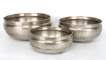 Nickel Plated 3Pc Round Planters