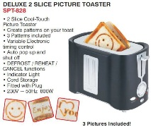 Deluxe 2 Slice Picture Toaster
