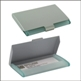 GREEN ACRYLIC/ALU BUSINESS CARD HOLDER