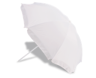 Tilt Head Beach Umbrella - White
