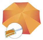 Funky Fresh Rain Umbrella - Avail in: Orange