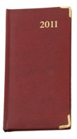 Slimline Executive Weekly Diary - Avail in: Maroon