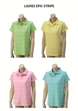 Ladies Epic Stripe Golf Shirt