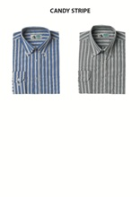 Mens Candy Stripe Lounge shirt - Long Sleeve