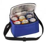 6 Pack Cooler With Front Pouch - Avail in: Royal