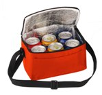6 Pack Cooler With Front Pouch - Avail in: Red