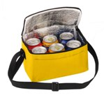 6 Pack Cooler With Front Pouch - Avail in: Yellow