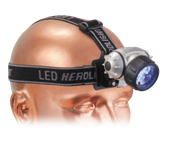 Camping LED Head Lite - Black