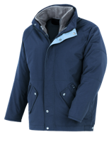 3 in 1 Windproof and Waterproof Parka - Blue