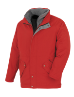 3 in 1 Windproof and Waterproof Parka - Red