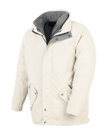 3 in 1 Windproof and Waterproof Parka - White