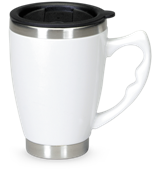 Mustang Thermal Mug - White