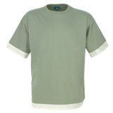 Fitted Short Sleeve T Shirt - Brown