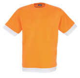 Fitted Short Sleeve T Shirt - Orange