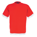 Fitted Short Sleeve T Shirt - Red