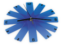 Foldable Wall Clock - Blue